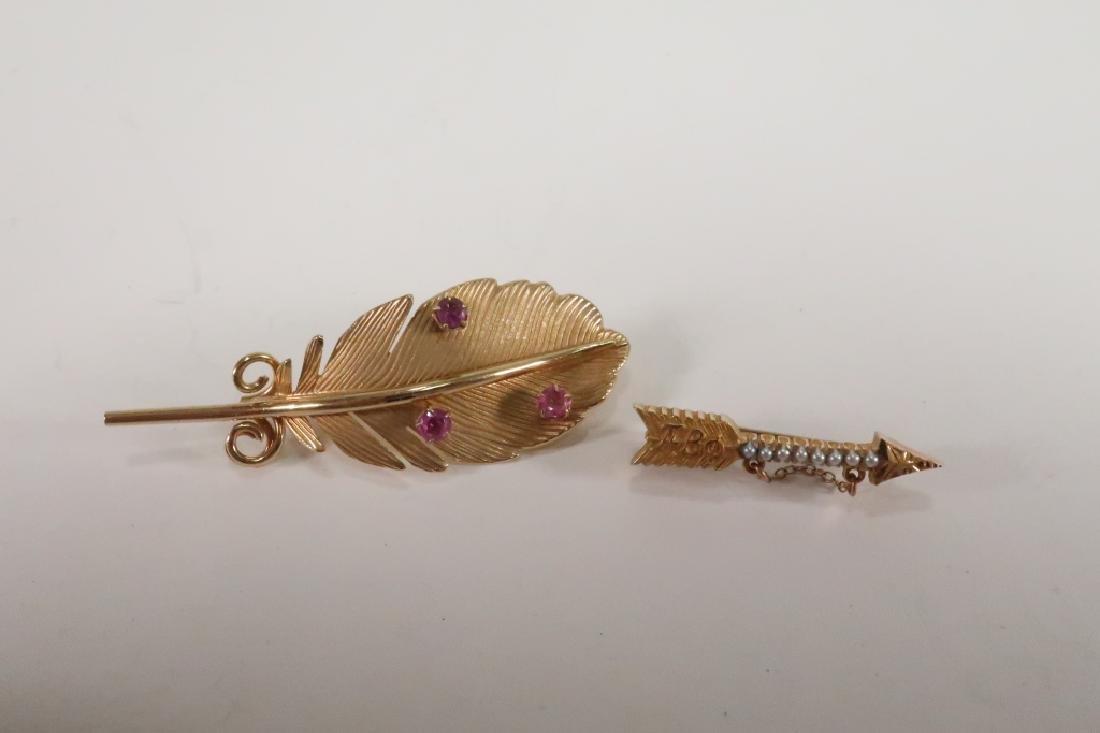 Lot of 10 14 kt Gold Jewelry Vict Locket Cufflinks - 5
