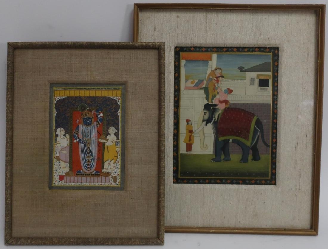 Two Indian Miniature Paintings,19th C.