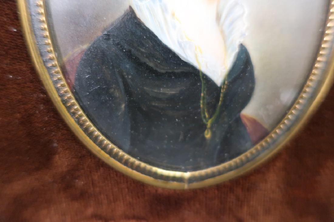 French Portrait Miniature signed F. Josse, 19th C. - 4