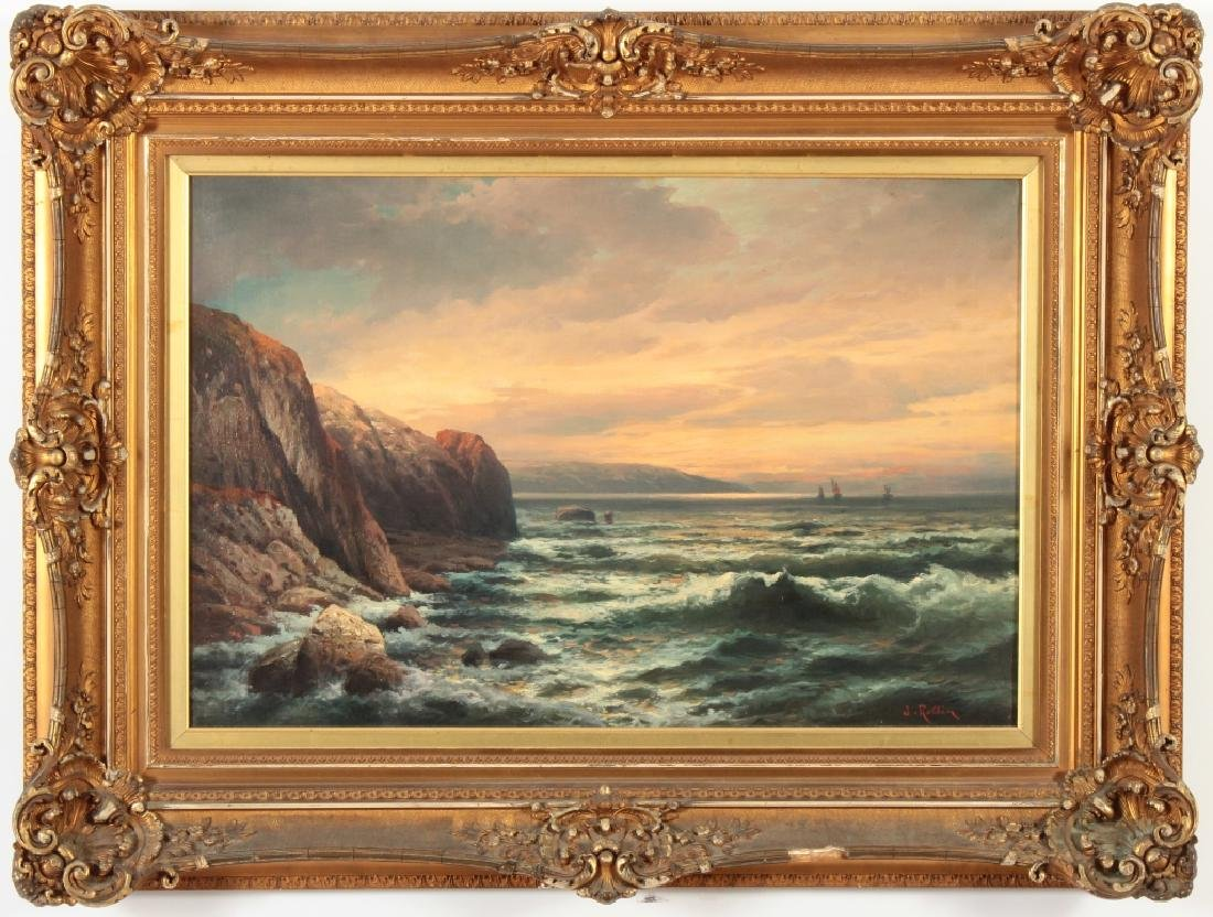 Adolf Kaufmann, 1848-1916, Seascape, O/C