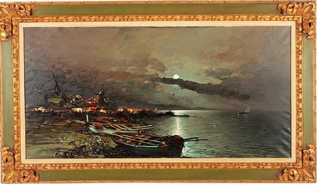 Beltrame, It., 20th c., Mediterranean Evening, O/C