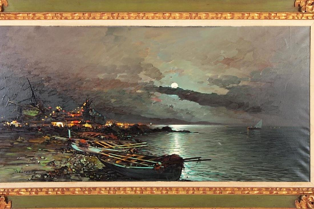 Beltrame, It., 20th c., Mediterranean Evening, O/C - 2