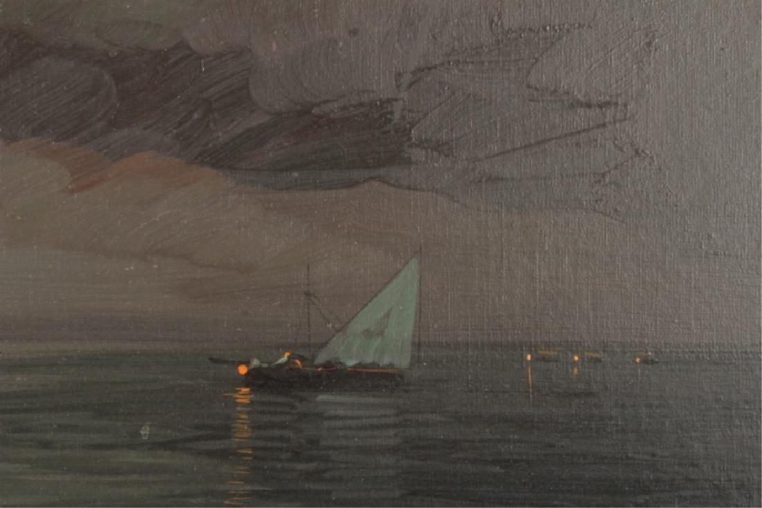Beltrame, It., 20th c., Mediterranean Evening, O/C - 5