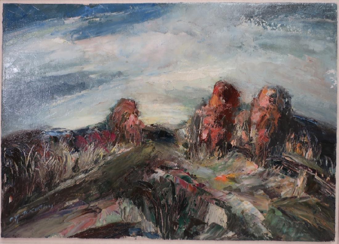 C.J. McCarthy, Woodstock Landscape, O/B, signed.