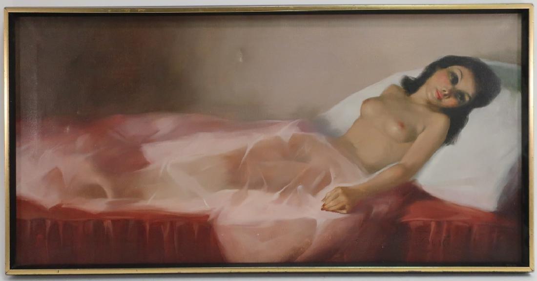 Calio, Italian, 20th c., Recumbent Nude, O/C