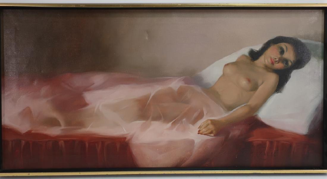 Calio, Italian, 20th c., Recumbent Nude, O/C - 2