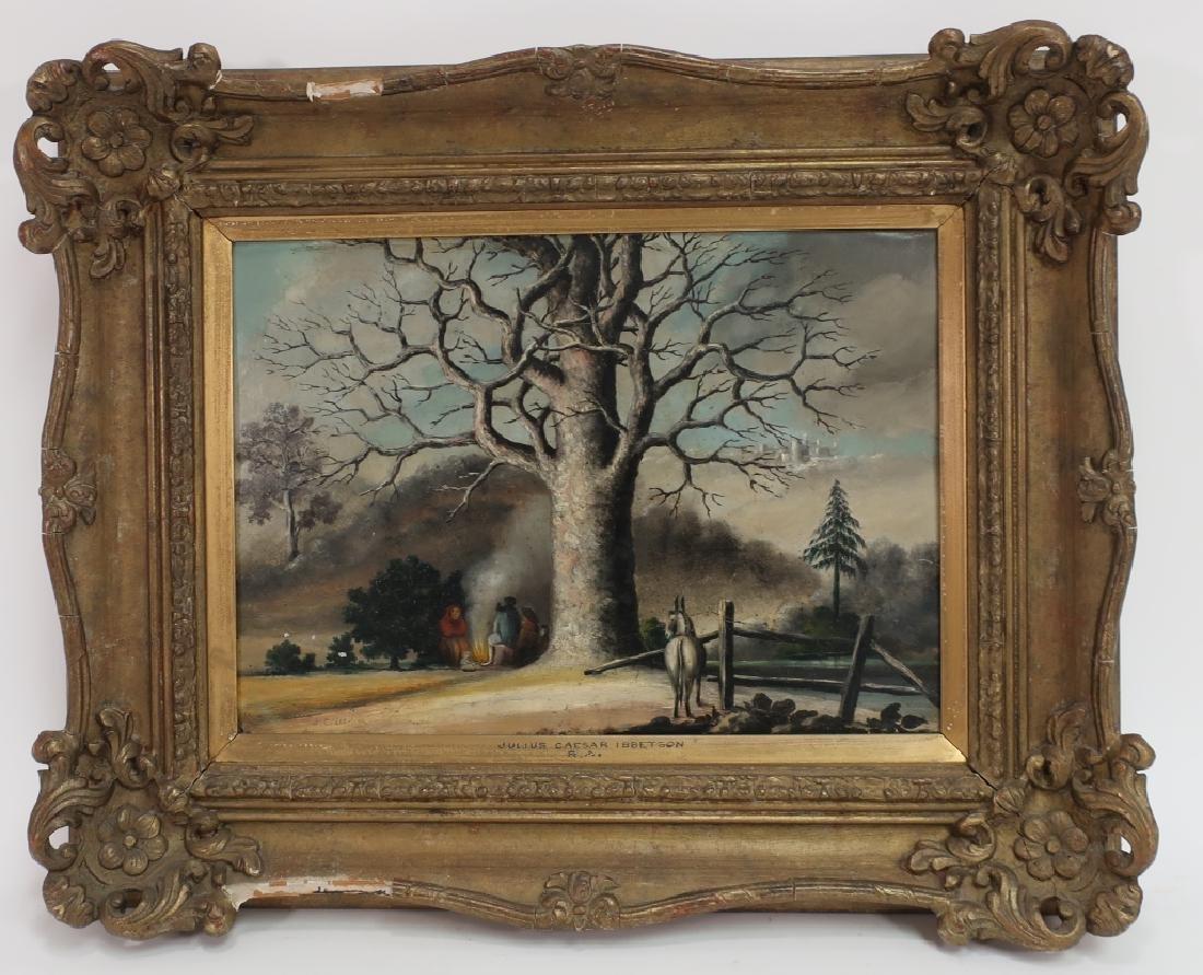 J. C. Ibbetson, UK, Travelers, Oil on Tin