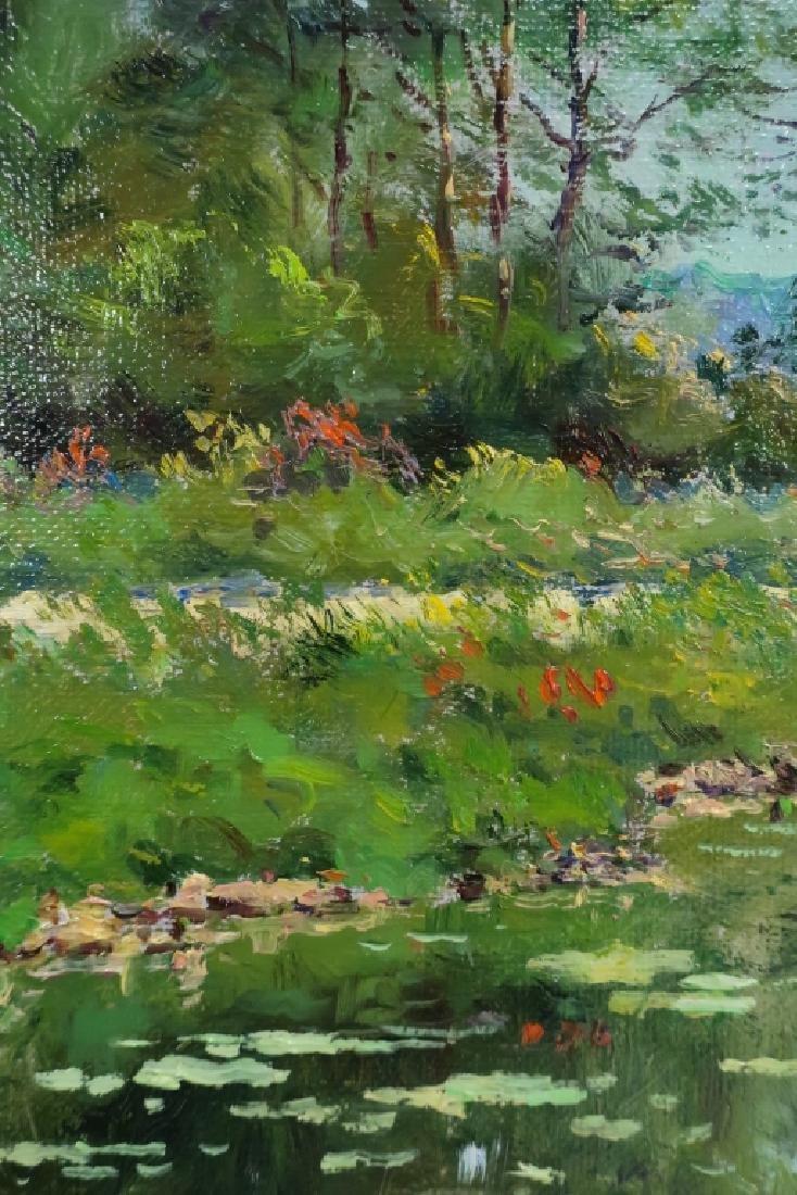 """Laurent Vialet, b. 1967, """"Paysage aux Nympheas"""" - 4"""