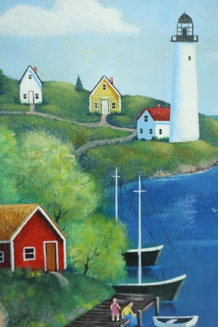 "Steve Klein, 20th C., ""Along the Bay"" o/c - 4"
