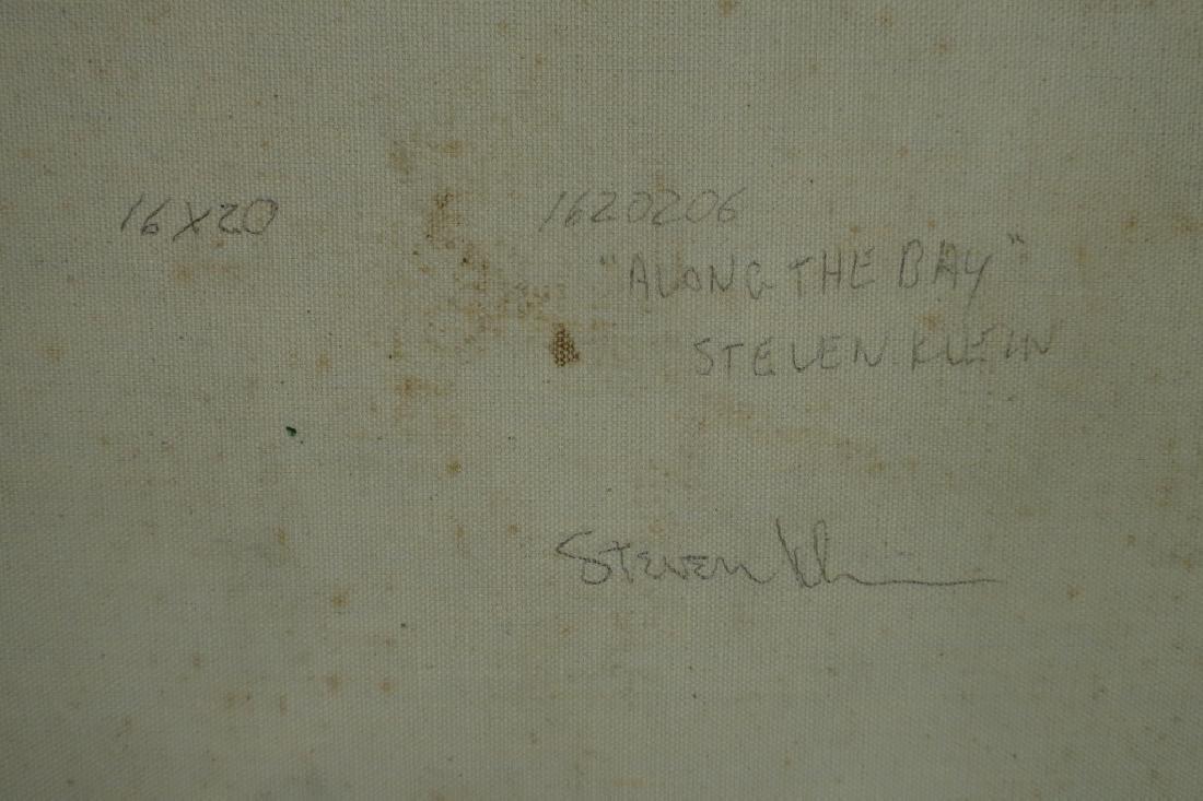 "Steve Klein, 20th C., ""Along the Bay"" o/c - 6"