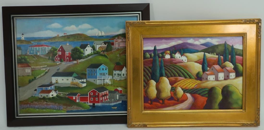 Steven Kelin, 20th C., Two Paintings