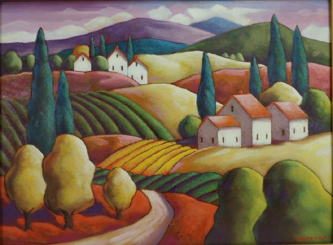 Steven Kelin, 20th C., Two Paintings - 3