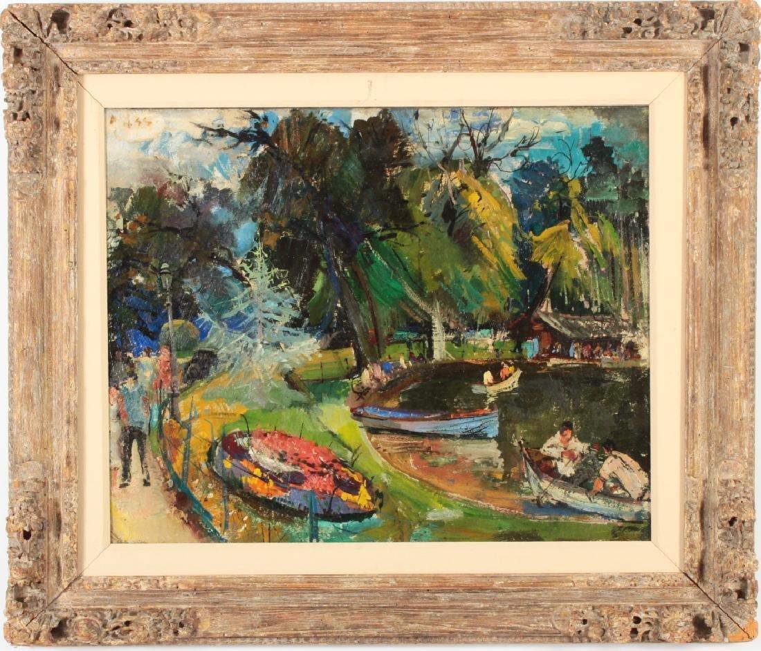 """Theodore Doss """"Bois de Boulogne"""" O/C c.1920"""