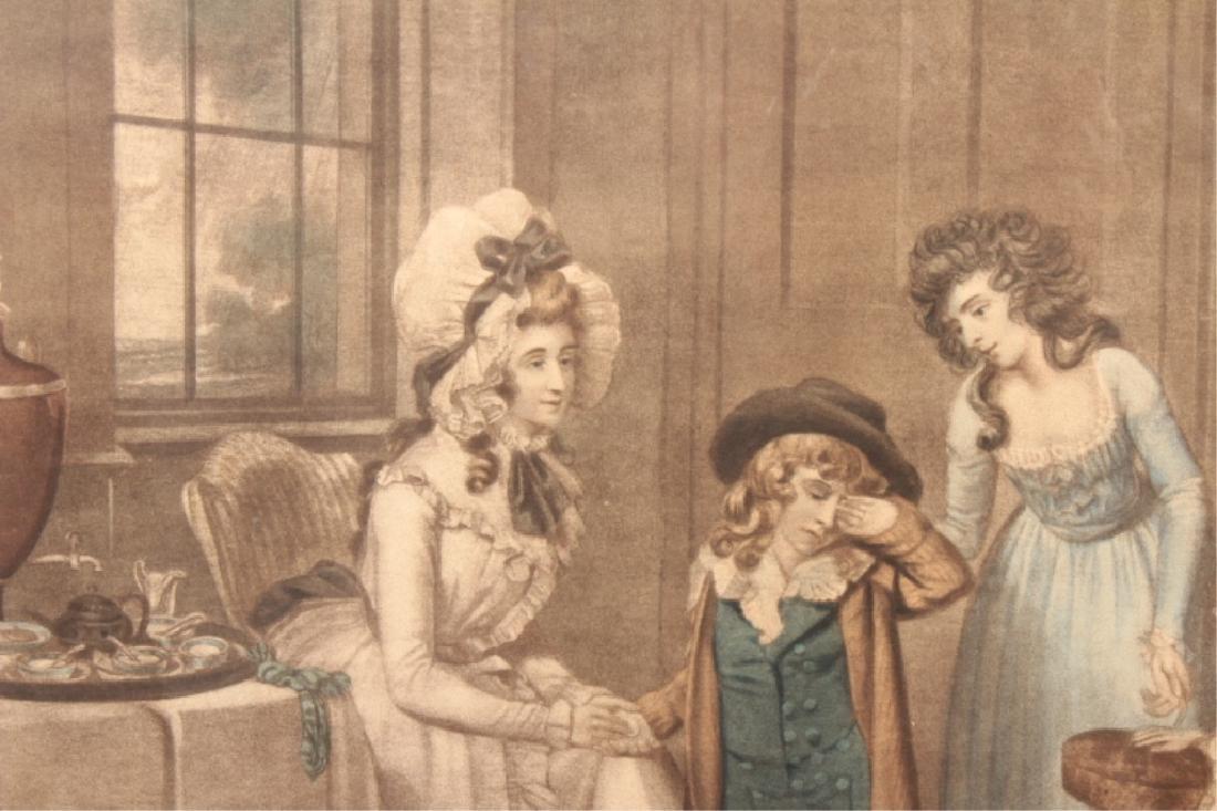 2 19th C. Engravings, Black Monday, Dulce Domum - 4