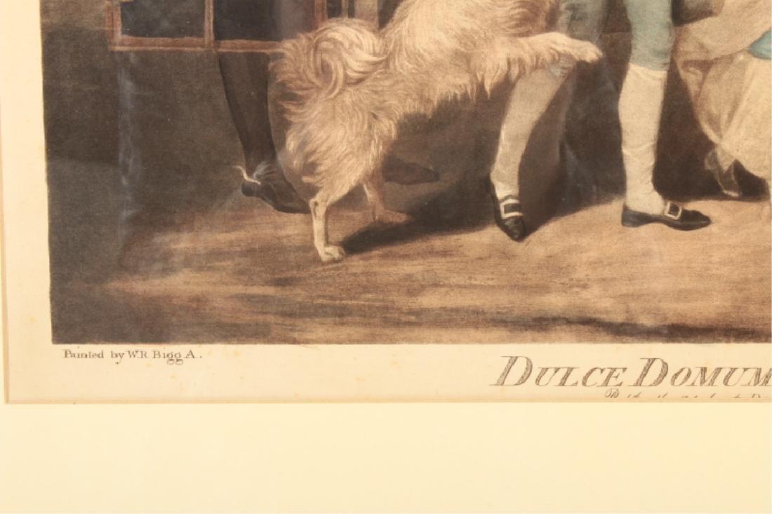 2 19th C. Engravings, Black Monday, Dulce Domum - 7