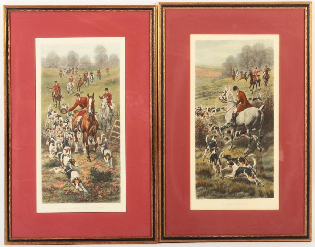E.A.S. Douglas, 2 Equestrian Color Prints