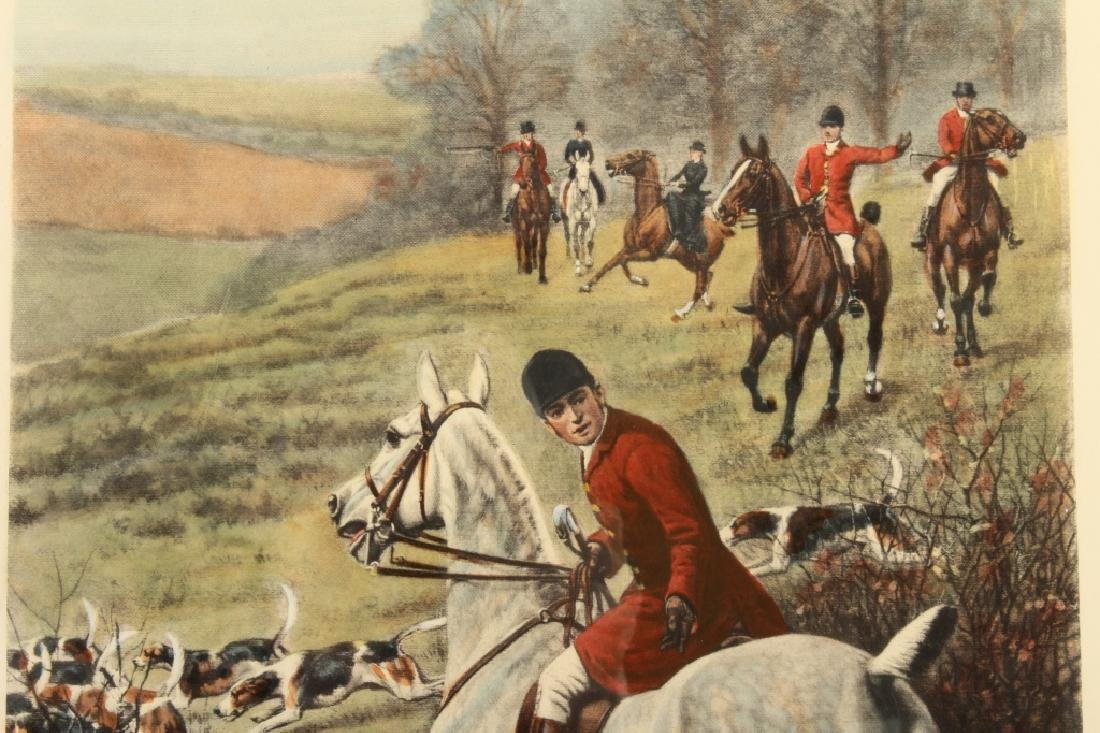 E.A.S. Douglas, 2 Equestrian Color Prints - 3