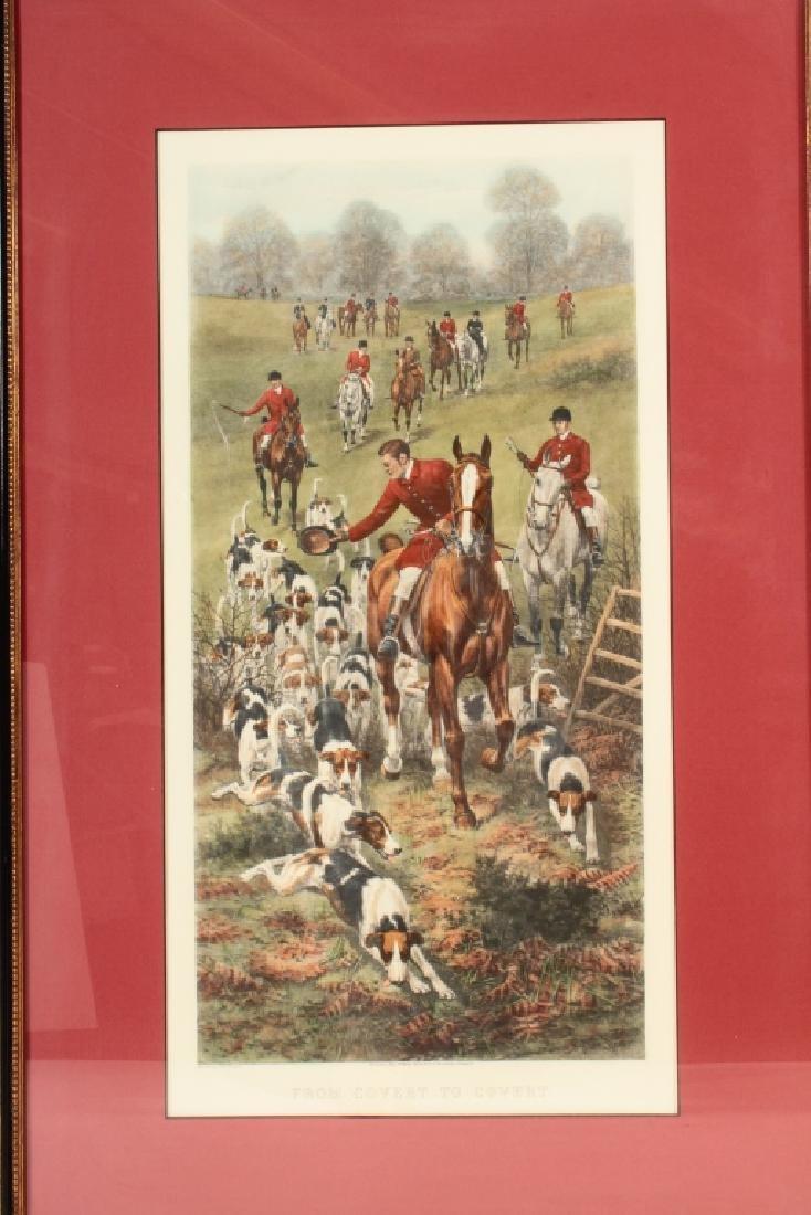 E.A.S. Douglas, 2 Equestrian Color Prints - 8