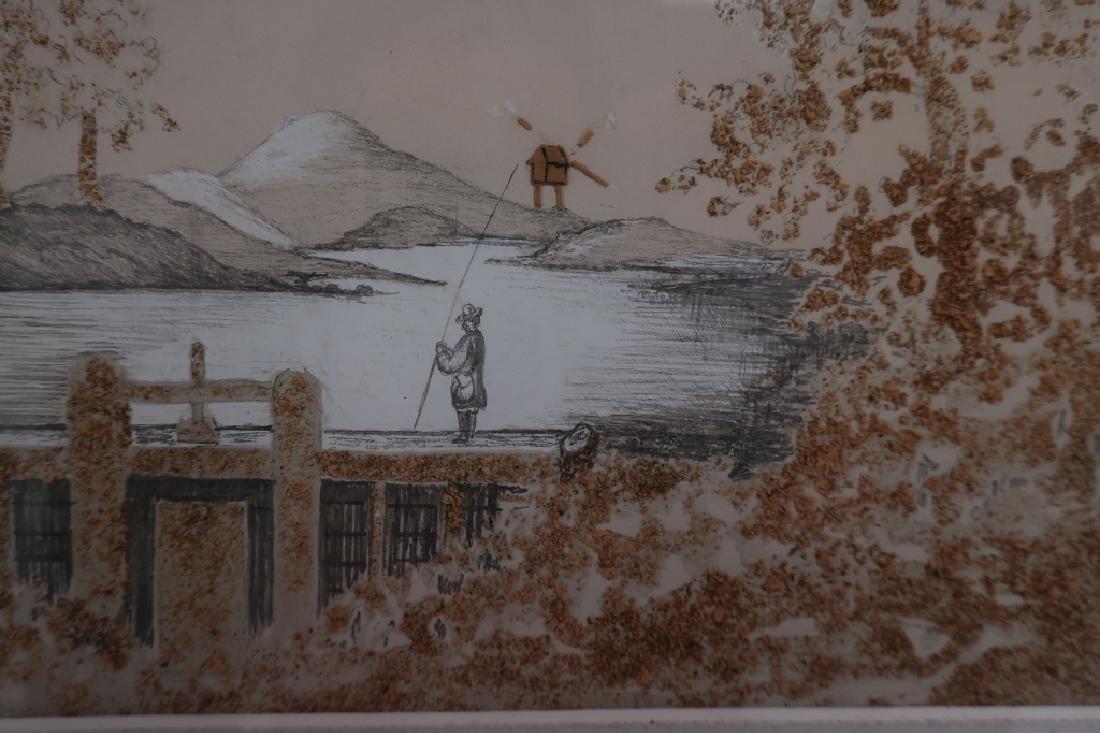 European Sandpaper Pencil Drawing - 3