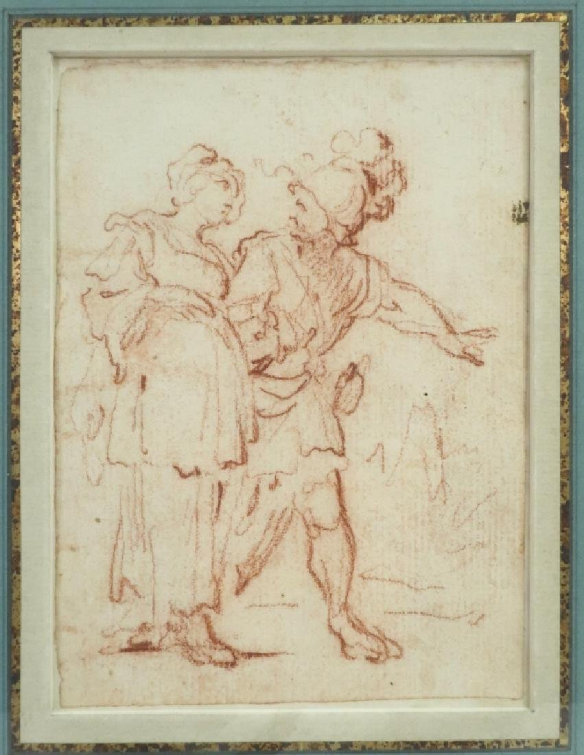 Follower of Salvator Rosa Red Chalk Drawing 17th c - 2
