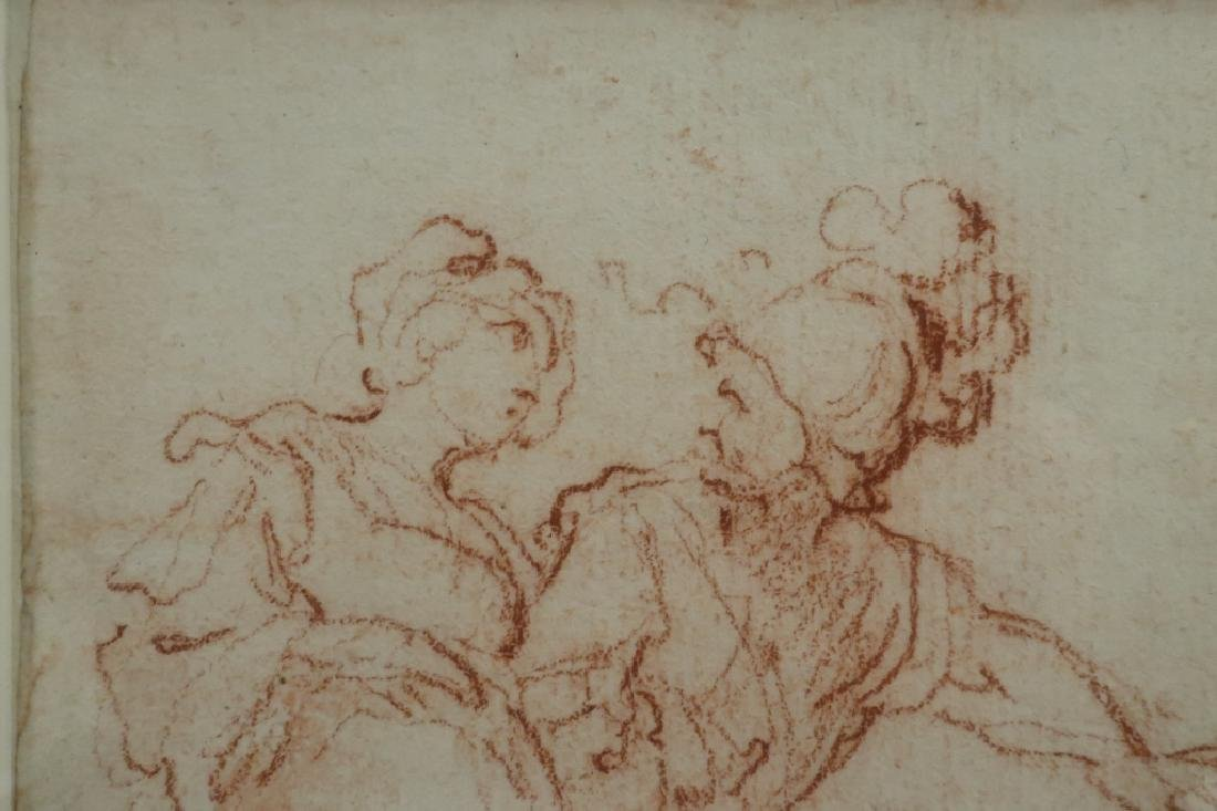 Follower of Salvator Rosa Red Chalk Drawing 17th c - 3