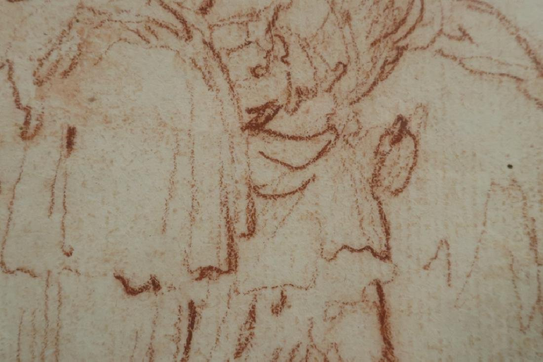 Follower of Salvator Rosa Red Chalk Drawing 17th c - 4