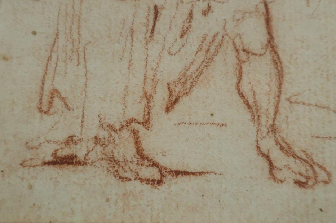 Follower of Salvator Rosa Red Chalk Drawing 17th c - 5