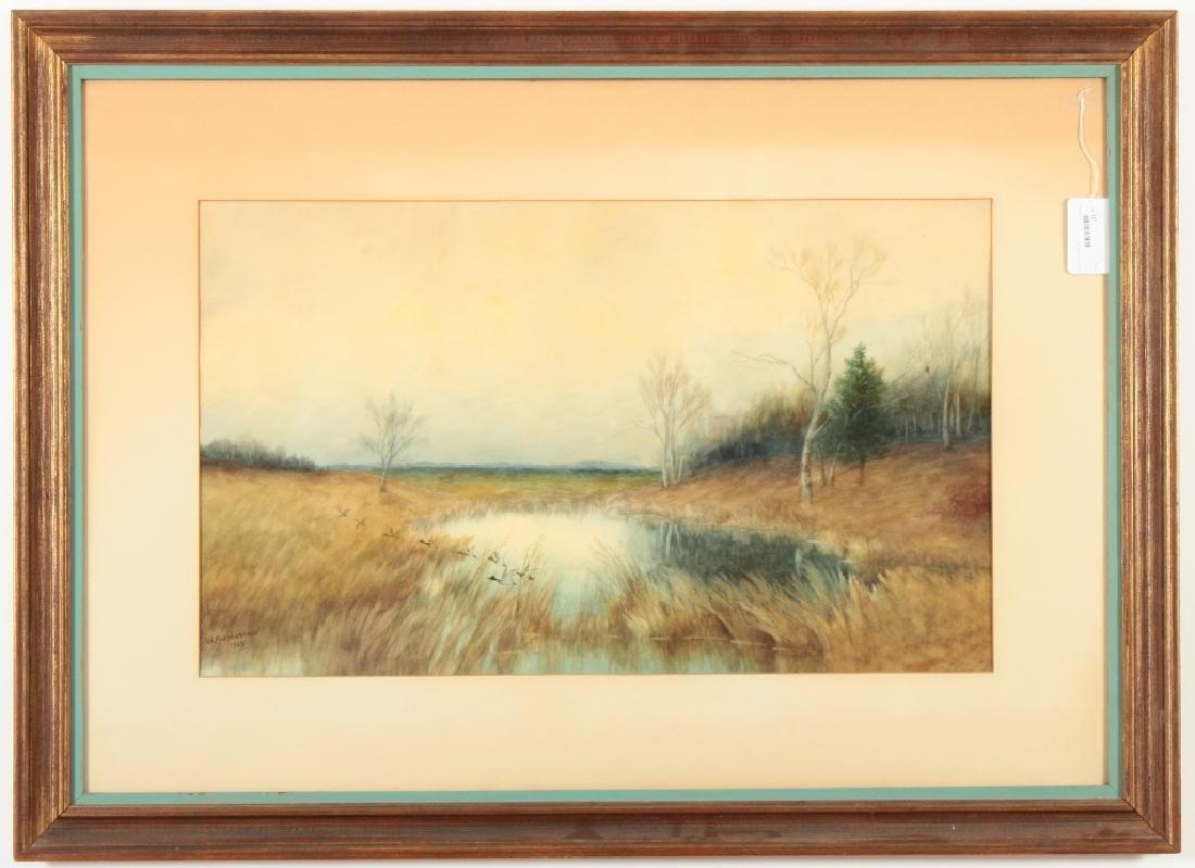 G R Hardenbergh, Am., 1855-1915, Mallards, W/C