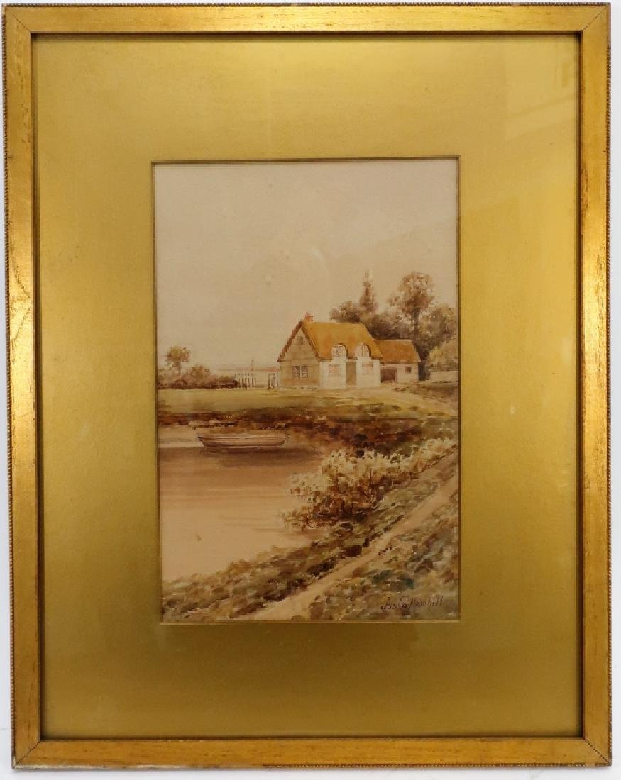 Jas Callowhill, Eng. English Cottage, W/C on paper