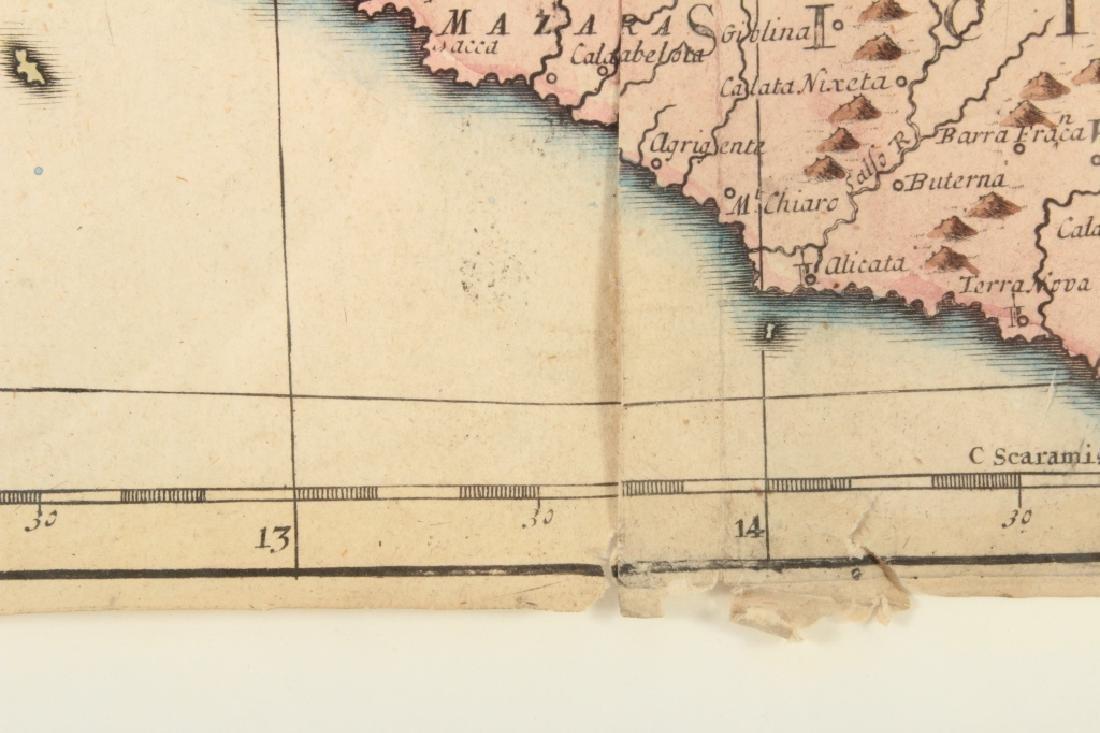 Large Antique Map Italy John Senex Engraving 1708 - 10