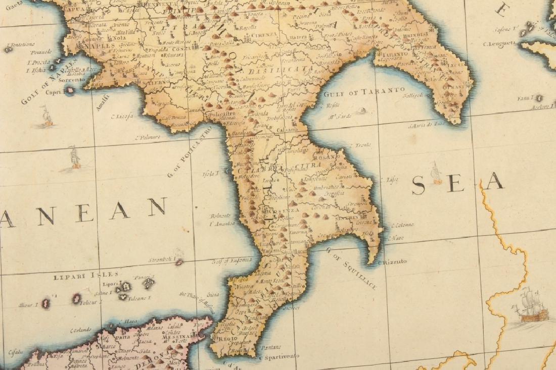 Large Antique Map Italy John Senex Engraving 1708 - 5