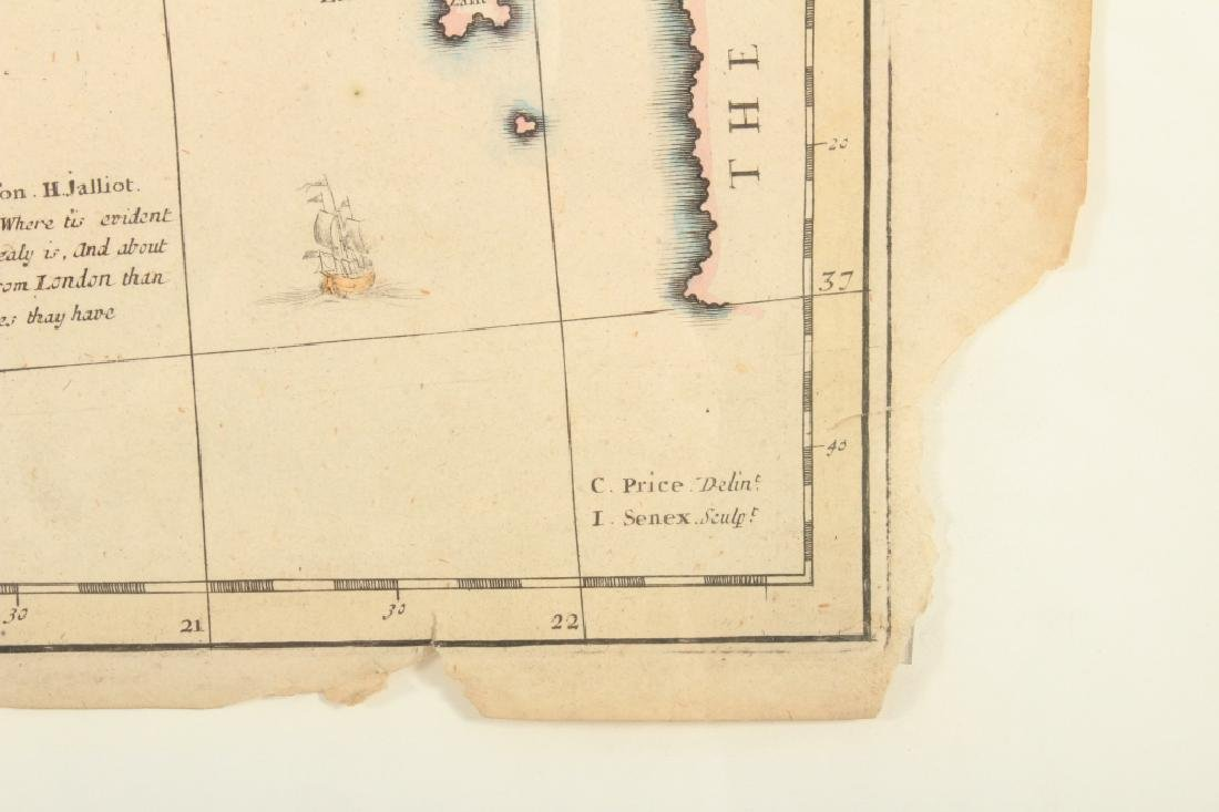 Large Antique Map Italy John Senex Engraving 1708 - 6