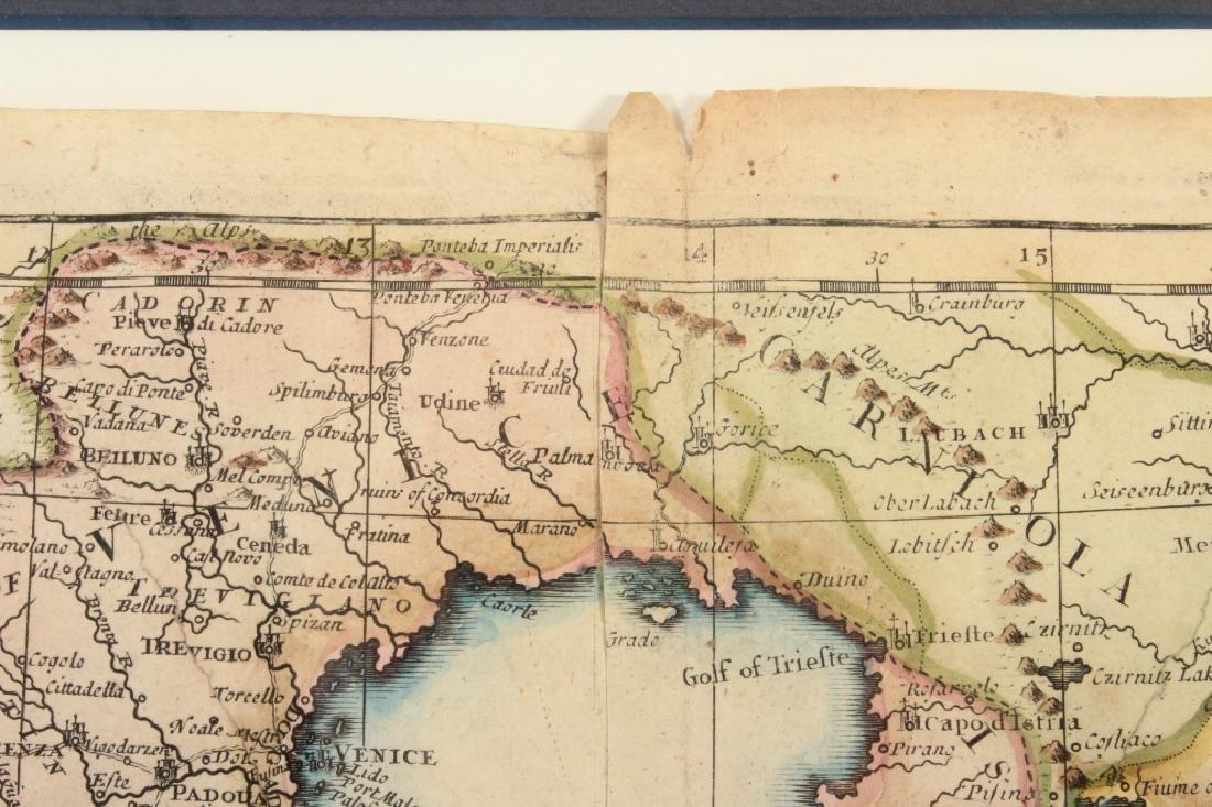 Large Antique Map Italy John Senex Engraving 1708 - 7