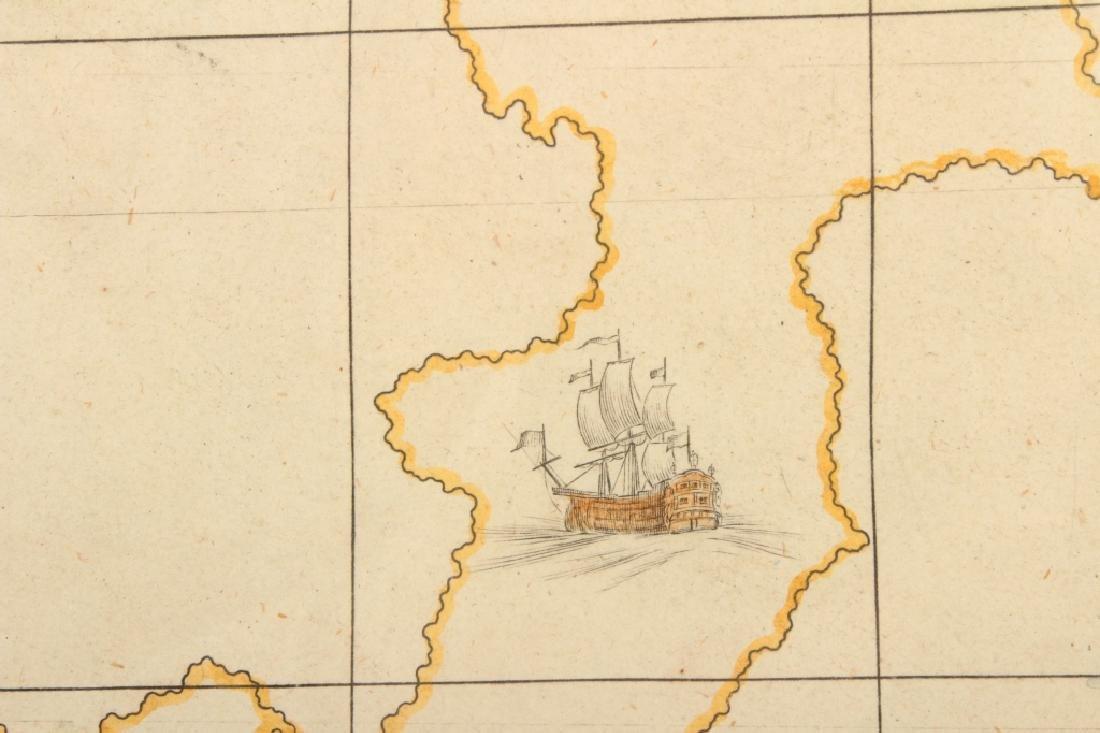 Large Antique Map Italy John Senex Engraving 1708 - 9