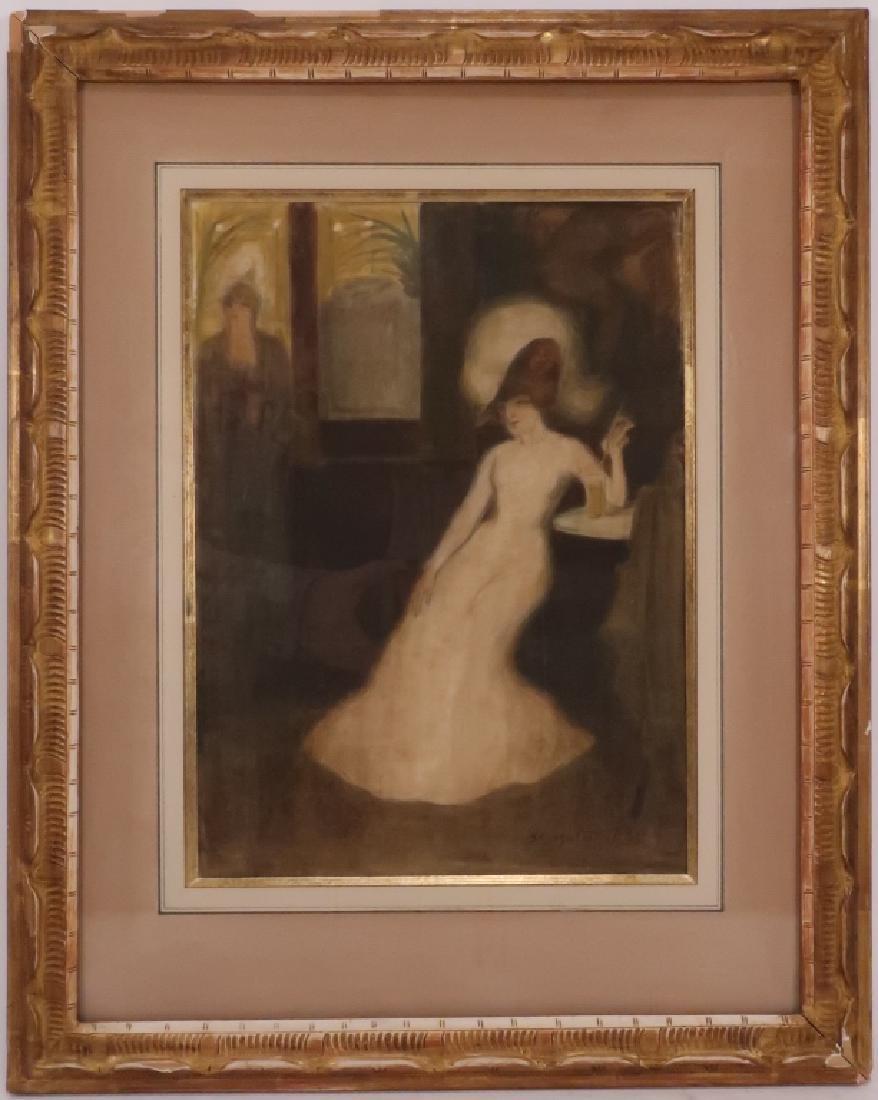 "George Bottini,Fr.,1874-1907,""J'Attente"", W/C"