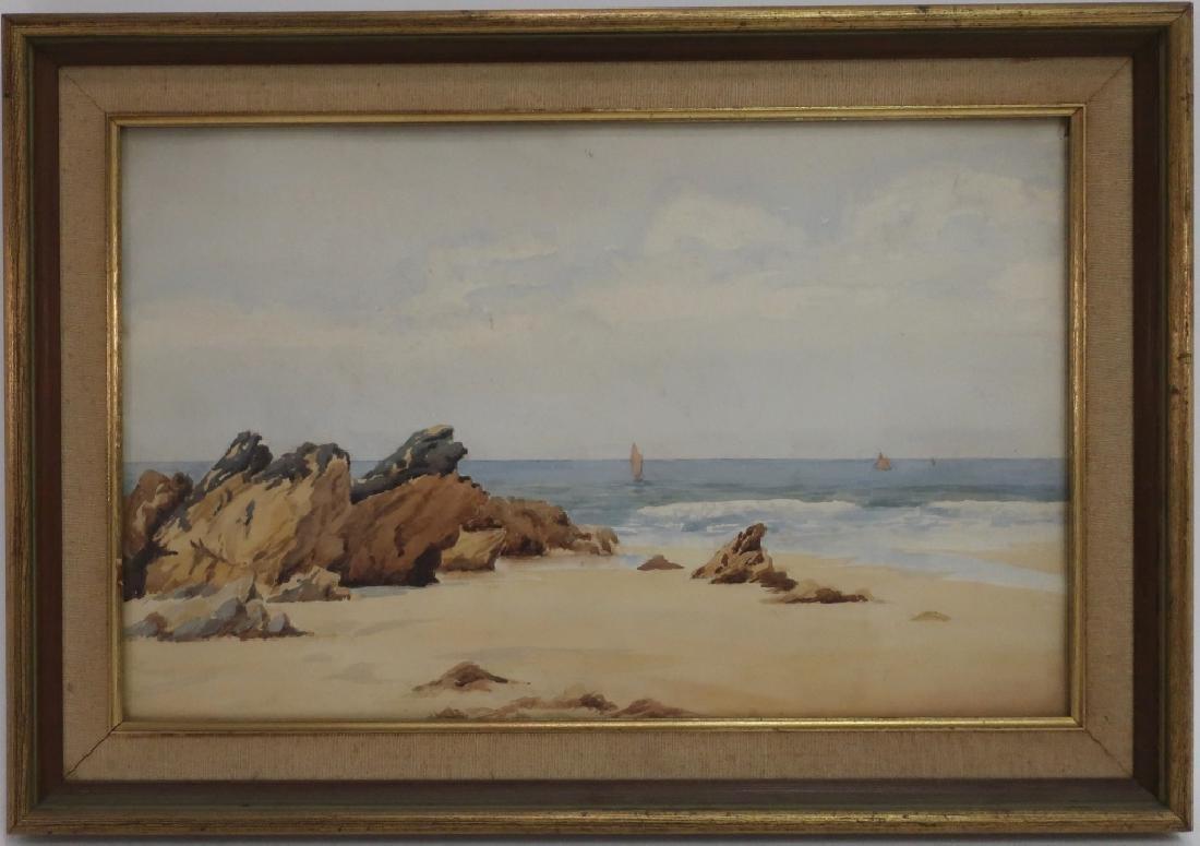 Manner Wm Trost Richards Rocky Coast, W/C, c. 1900