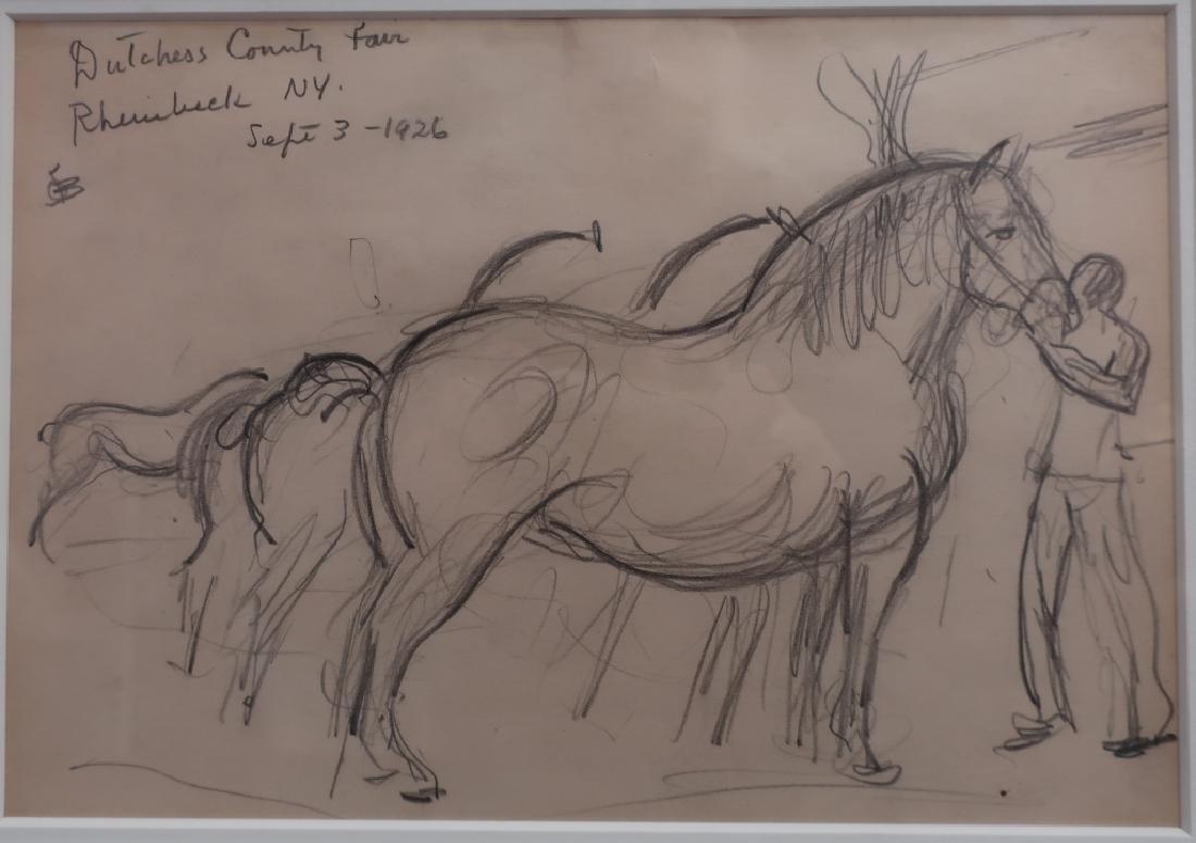 Oscar Bleumner, Drawing of Rhinebeck Fair, 1926