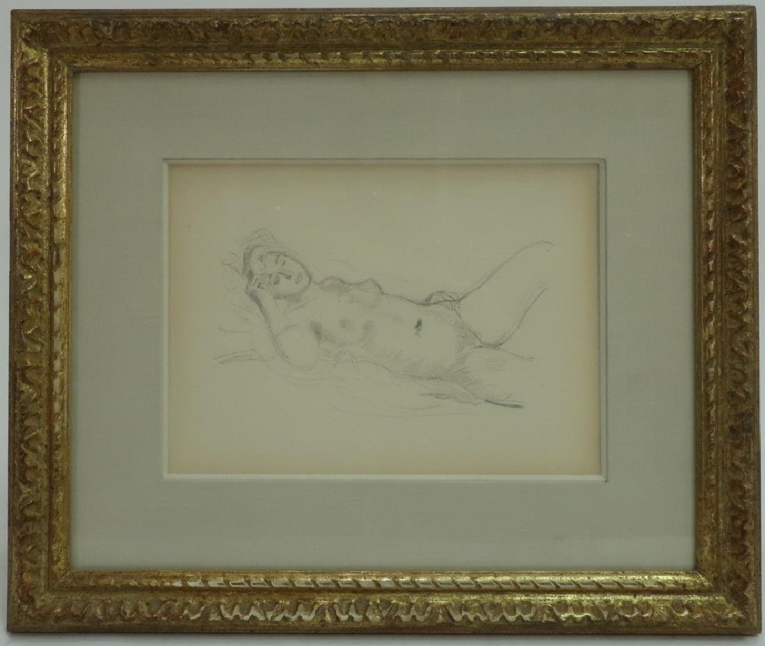 Reclining Nude Print Unsigned in a Kulicke Frame