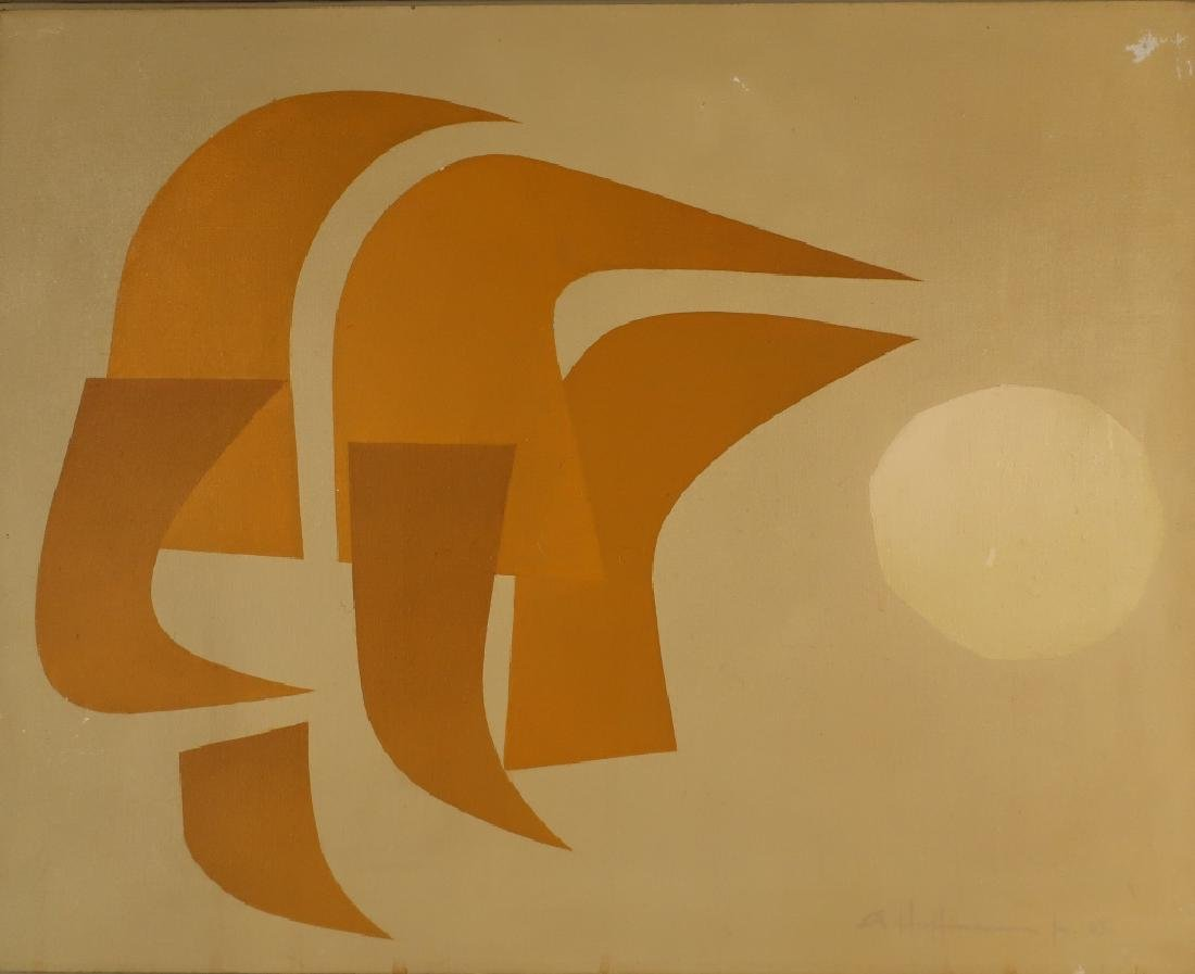 A. Hoffmann Modern Mid-Century Abstract O/C 1963