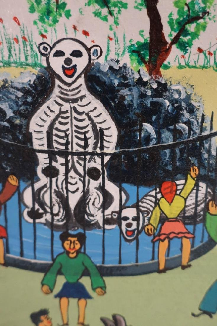 Cirillo, It., Circus Park, 20th C., paint on board - 2