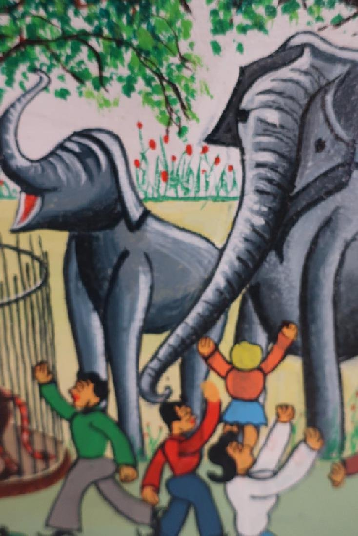 Cirillo, It., Circus Park, 20th C., paint on board - 3