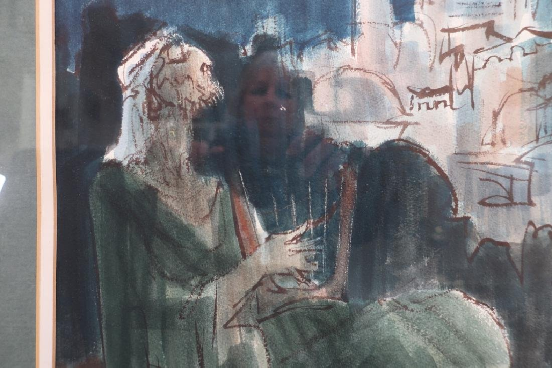 "Ernest Ullman, ""Holy City"", Oil on Paper - 3"