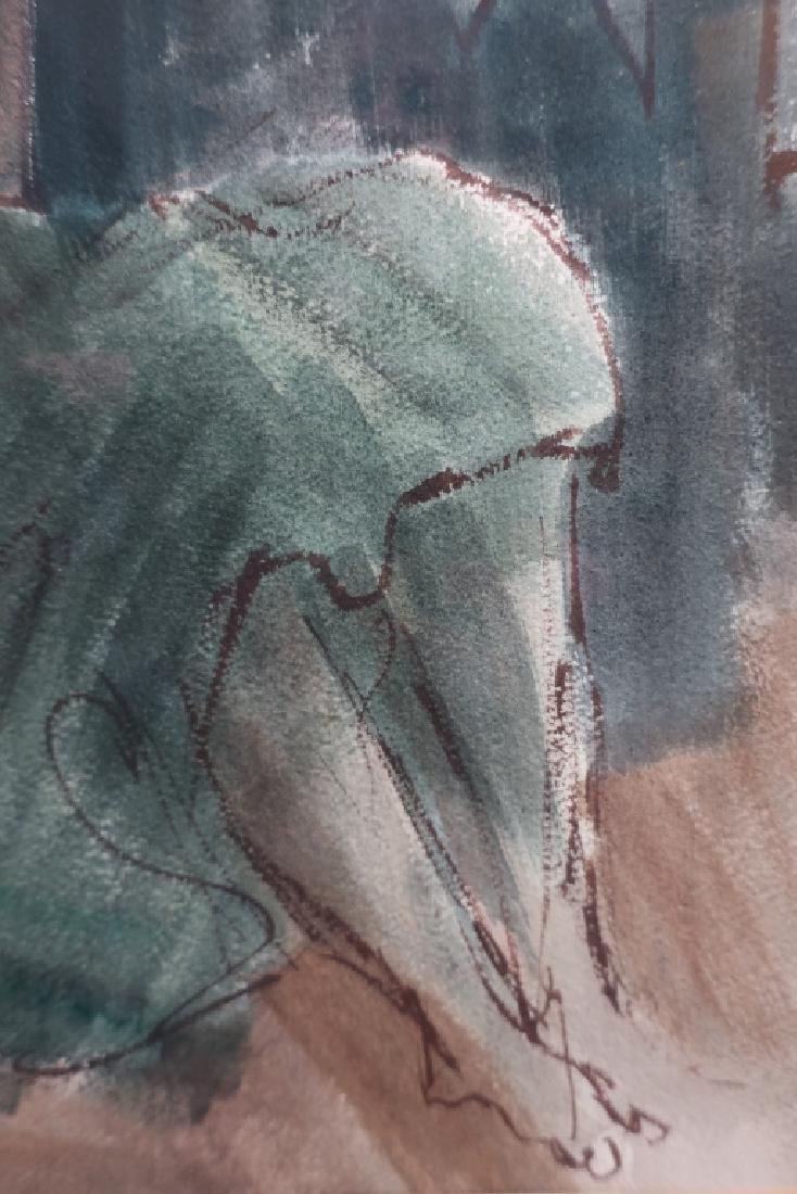 "Ernest Ullman, ""Holy City"", Oil on Paper - 4"