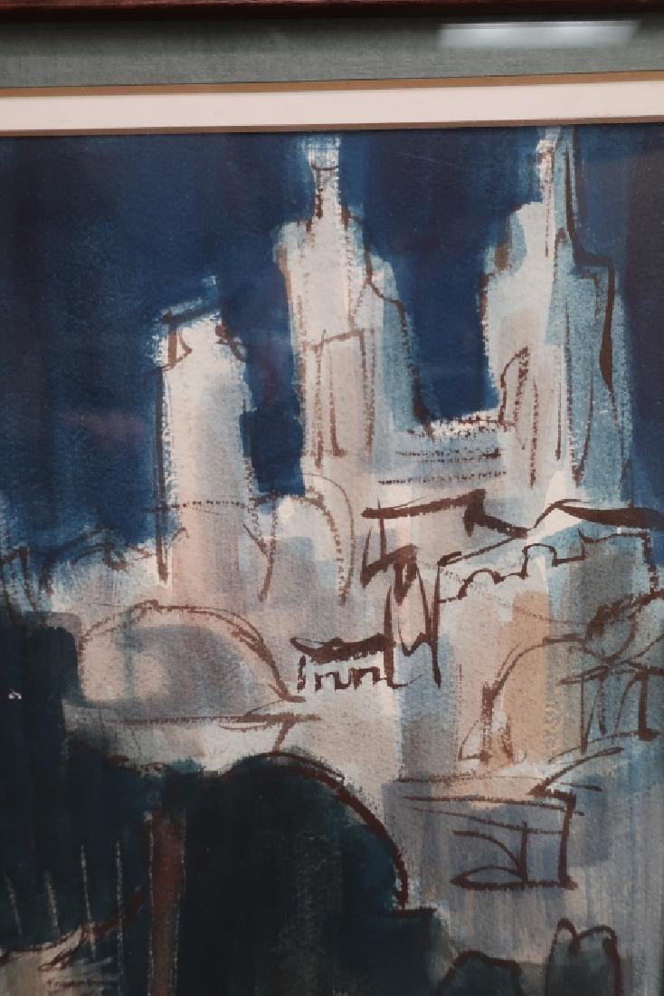 "Ernest Ullman, ""Holy City"", Oil on Paper - 5"