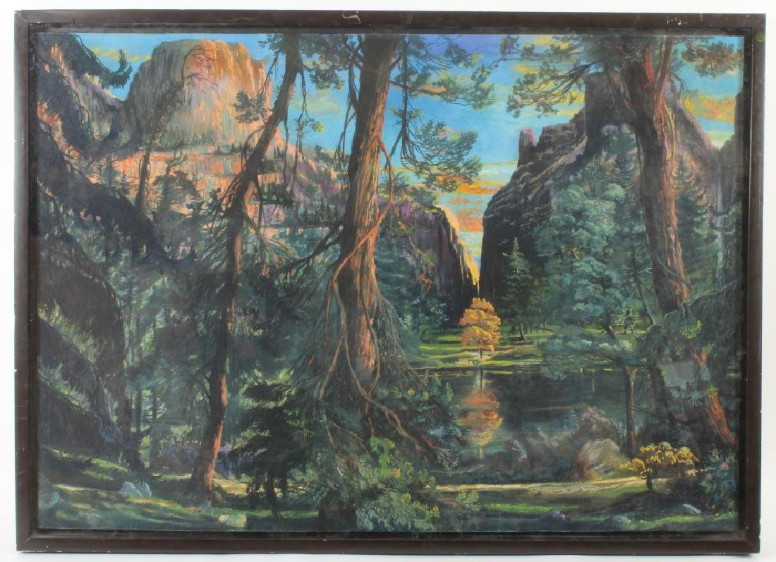 Gerard Diaz b 1938 Northern California Pastel 1985