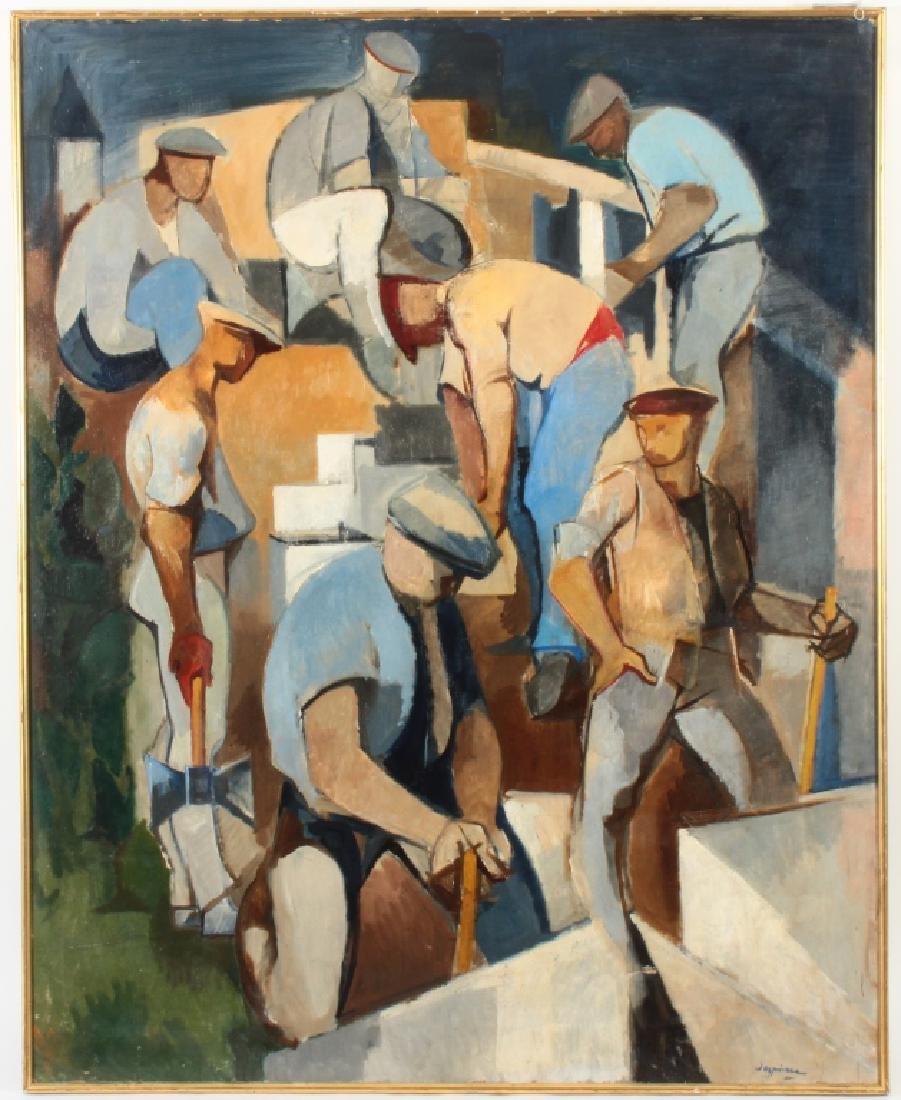 Jacques Despierre Les Tailleurs de Pierre O/C 1954