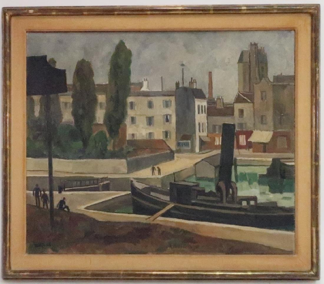 "Louis Robert Antral, ""Charenton"" o/c"