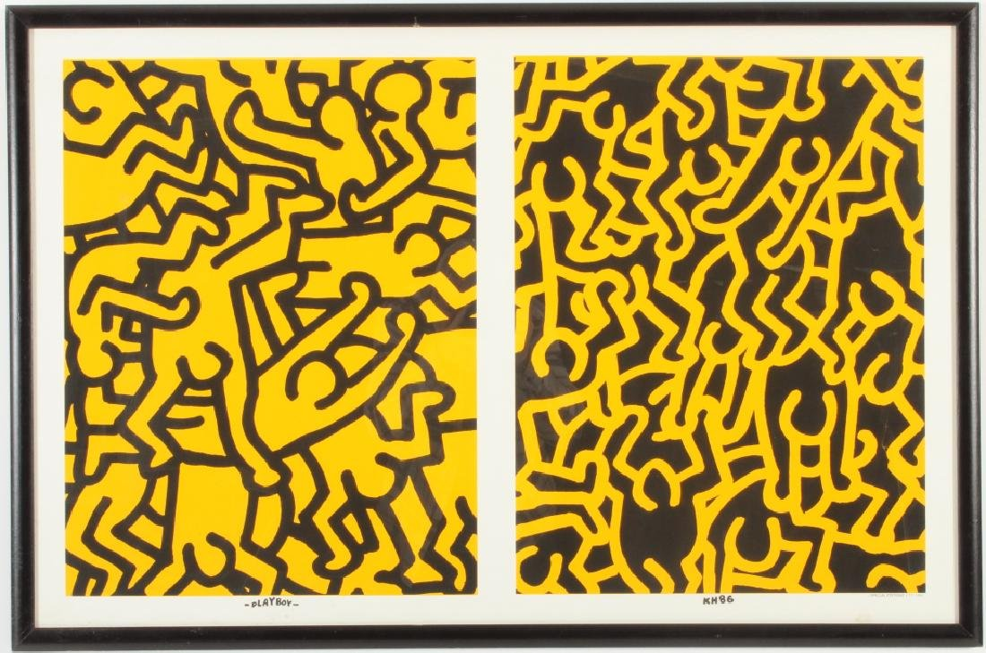 Keith Haring, Playboy, screen print poster