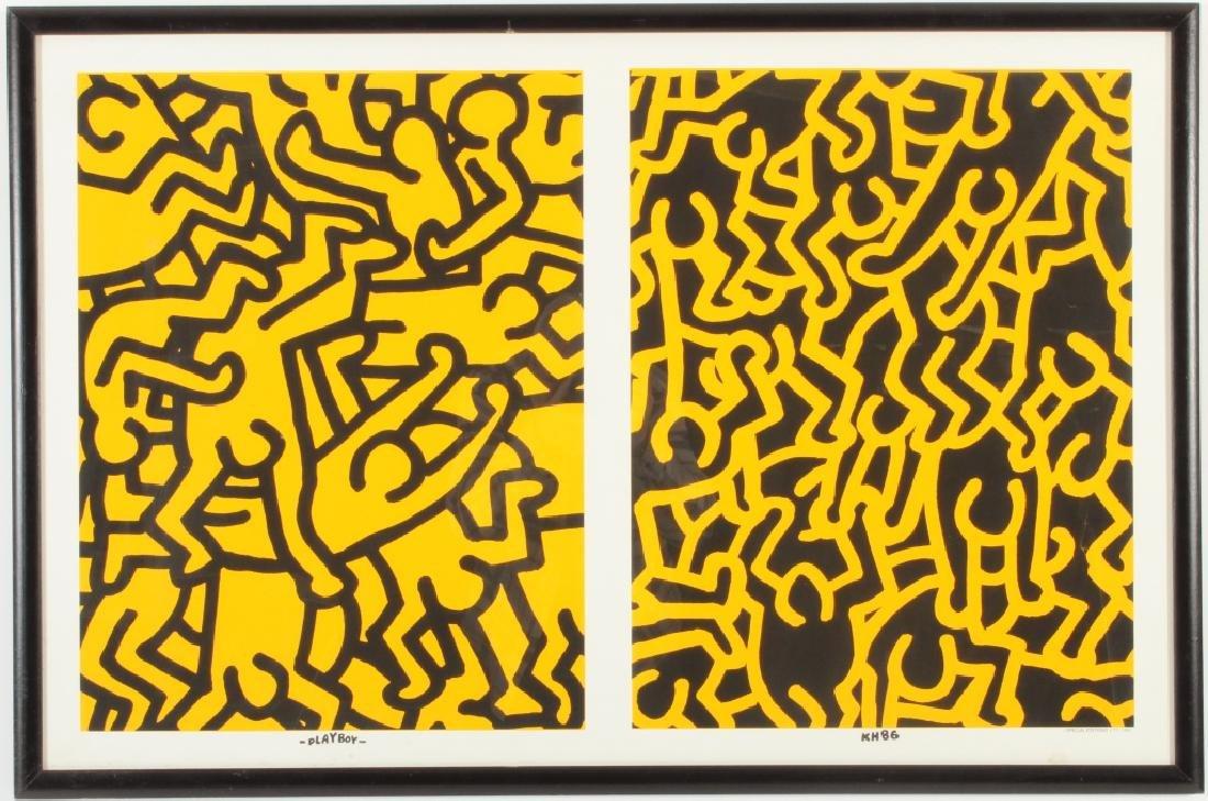 Keith Haring, Playboy, screen print poster