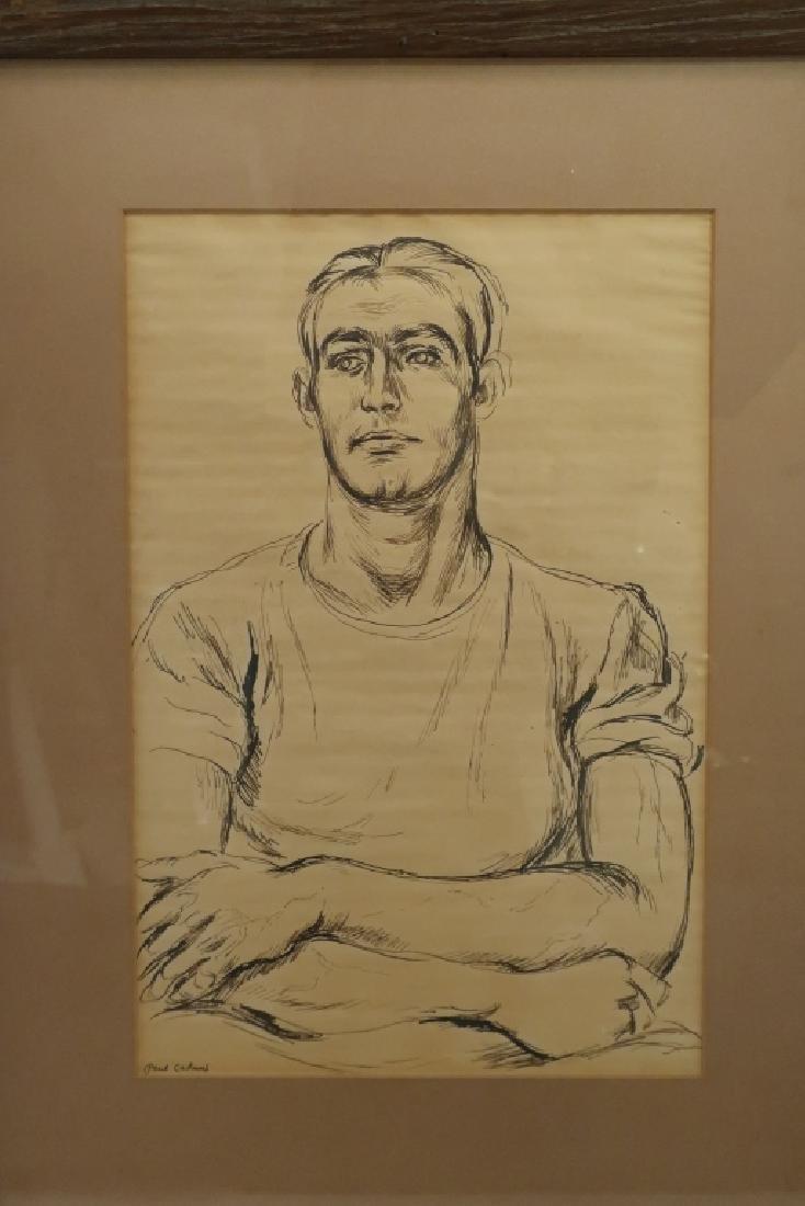 "Paul Cadmus 1904-1999 ""Albert"", Young Man Pen and Ink - 2"